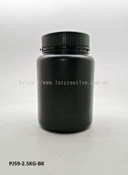2.5KG BLACK PLASTIC JAR
