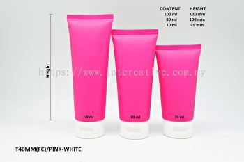 T40MM PINK SOFT TUBE + WHITE FLIP CAP