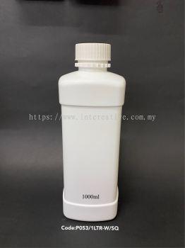 100l Square White Bottle