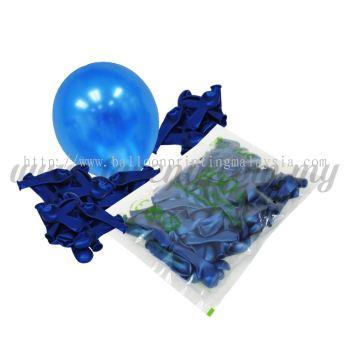 5 inch Metallic Balloon - Sapphire Blue (B-MR5-856)