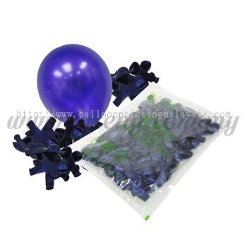 5 inch Metallic Balloon - Purple (B-MR5-863)