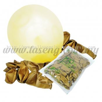 12 inch Metallic Round balloons - Gold (B-MR12-818)