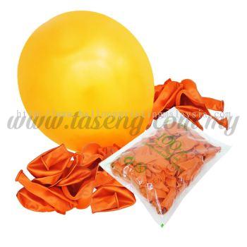 12 inch Metallic Round balloons - Orange (B-MR12-820)