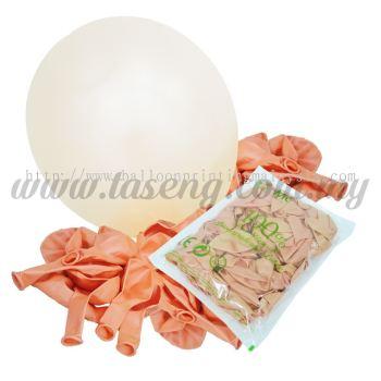 12 inch Metallic Round balloons - Peach (B-MR12-821)