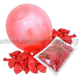 12 inch Metallic Round balloons - Red (B-MR12-830)