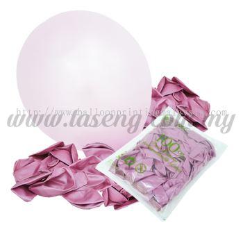 12 inch Metallic Round balloons - Pink JH (B-MR12-834)