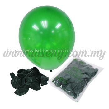 12 inch Crystal Round Balloon - Green (B-CR12-670)
