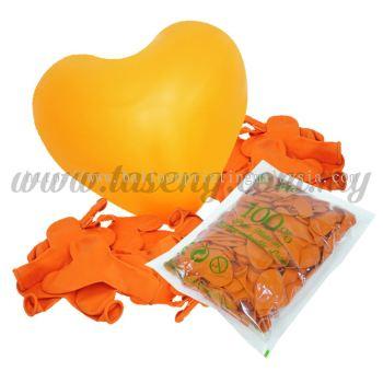 11inch Standard Heart Shape Balloon - Orange (B-SH11-220)