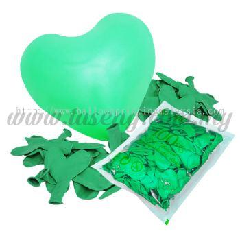 11inch Standard Heart Shape Balloon - Green (B-SH11-270)