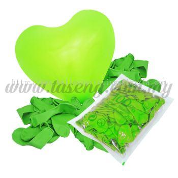 11inch Standard Heart Shape Balloon - Lime Green (B-SH11-471)