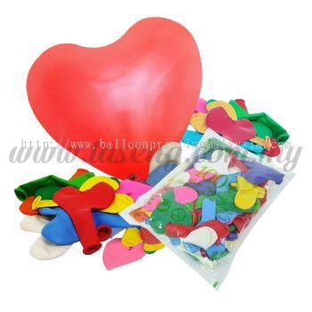 11inch Standard Heart Shape Balloon Assorted (B-SH11-MIX)