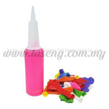 Hand Pump Neon with 7inch Heart Shape Balloon 20pcs (BP-HPH20)