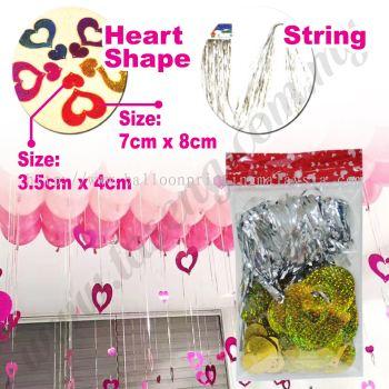 Decorative String Love Shape -Gold (P-AC-S1G)
