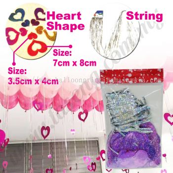 Decorative String Love Shape -Purple (P-AC-S1PP)