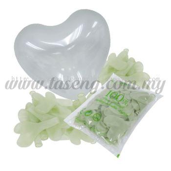 12 inch Heart Shape Balloon -Clear 100pcs (B-12HS-057P)