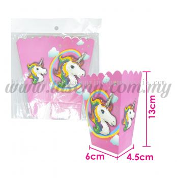 Unicorn Paper Popcorn Box 6pcs(P-POC-UN)