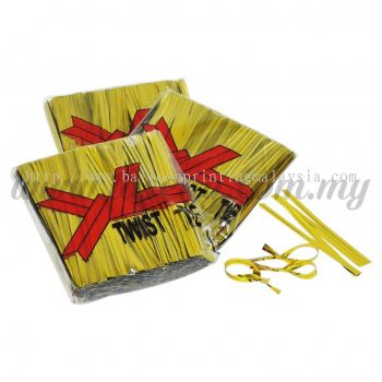 8cm Twist Tie -Gold 1pack *800pcs+- (TT-G)