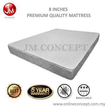 JM CONCEPT Pearl 8 Inches Foam Mattress Queen