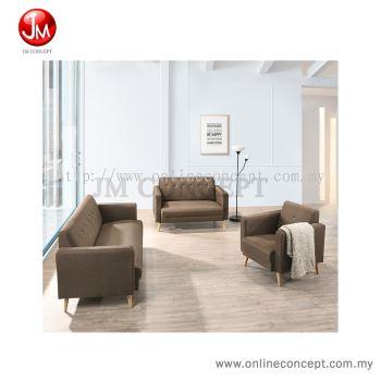 JM Concept CS3 Caramella Sofa Set 1+2+3 Seater (Solid Wood Leg) Brown