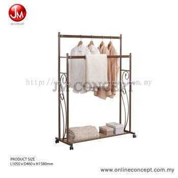 JM Concept Groo Metal Double Clothes Rack & Hanging /Drying Towel Rack