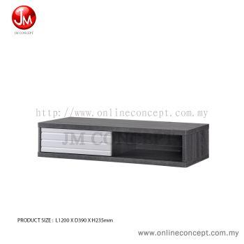 JM Concept Frezy Hanging Wall TV Cabinet with Glass Shelf & 3D Door 4 feet