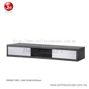 JM Concept Freezy Hanging Wall TV Cabinet with Glass Shelf & 3D Door 6 feet