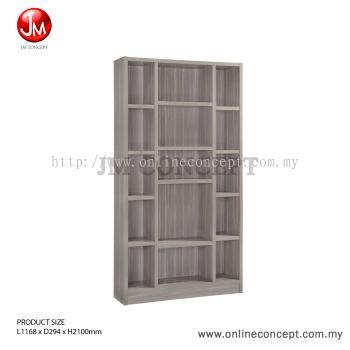 JM Concept BS07 Carnival Book Shelf / File Cabinet / Storage Cabinet / Multi Function Storage