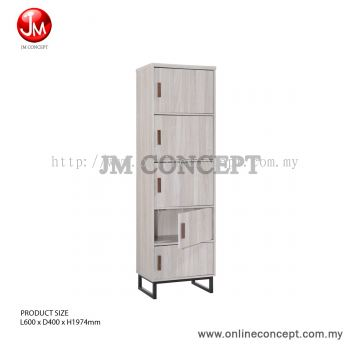 JM Concept Jarvy 5-Tier Metal Leg Colour Box / File Cabinet / Storage Cabinet