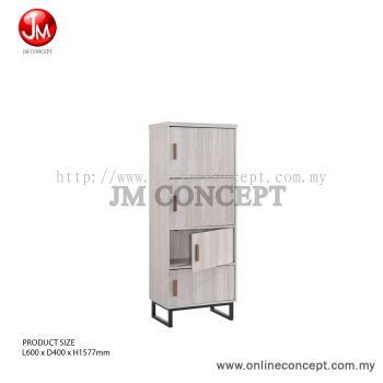JM Concept Jarvy 4-Tier Metal Leg Colour Box / File Cabinet / Storage Cabinet
