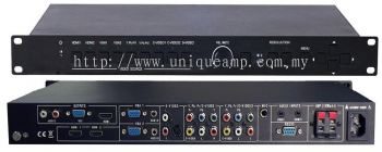 9-Input Presentation Scaler Switcher With Audio Amplifier (SC91DM)