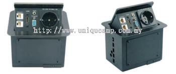 Compact Size PopUp & Hidden Table Top Socket (TSM1 Series)