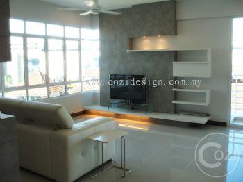 Living Hall design at Condo,Penang.