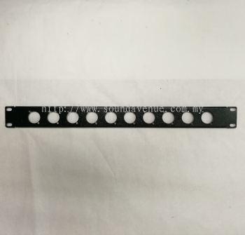 1U Rack Mounted Panel With XLR Hole