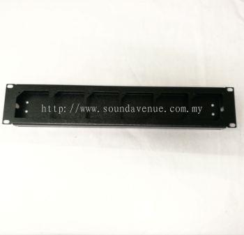 6 Way 13A Switch Socket Rack Mounted Panel