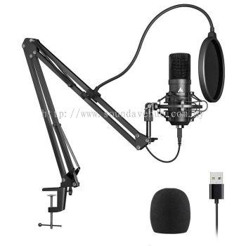 Maono AU-A04, USB Microphone Kit 192KHZ/24BIT Plug & Play