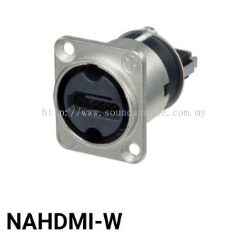 Neutrik NAHDMI-W, HDMI feedthrough adapter, D-shape housing