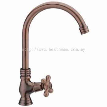 TORA ALL TIME CLASSIC SERIES (ANTIQUE COPPER) KITCHEN PILLAR SINK COLD TAP PS131-AC / TR-TP-PS-02604-AC