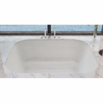 POLYSTONE FREE STANDING LONG BATH TR-BHT-FSB-06335-WW