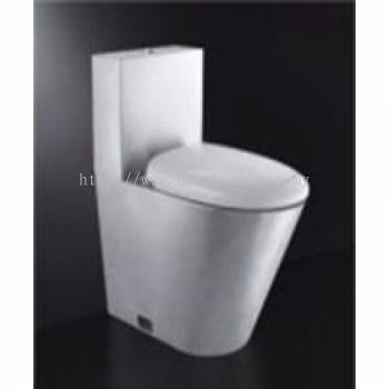 STAINLESS STEEL WATER CLOSET WITH PVC LID GK6100 / TR-SYW-OPS-09949-ST