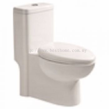 ONE PIECE WATER CLOSET WC1605-200MM / LC-SYW-OPS-07053-WW