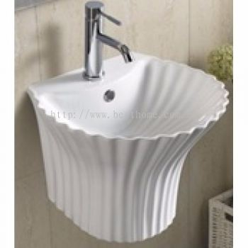 WALL HUNG WASH BASIN SHELL / LC-SYW-WHB-08488-WW