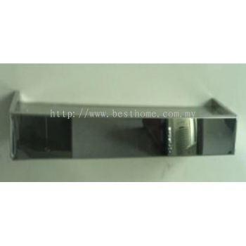 GLASS SHELF WITH BLACK COLOR GLASS GSW500 / TR-BA-GS-09072-WW