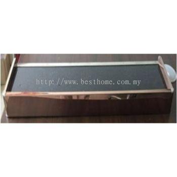 GLASS SHELF WITH BLACK COLOR GLASS GSG600 / TR-BA-GS-09074-GD