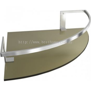 CORNER SINGLE GLASS SHELF GSD419 / TR-BA-GS-01050-PL