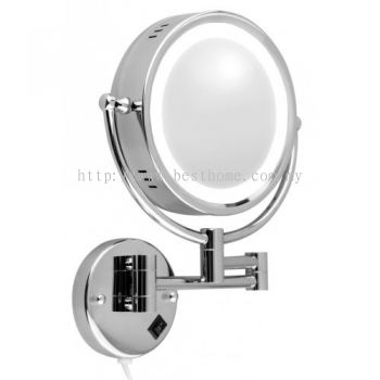 WALL MOUNTED MAGNIFYING MIRROR WITH LIGHT KL214 / TR-BA-MM-01141-PL