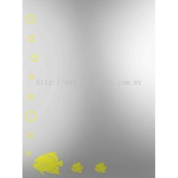 SQUARE CRYSTAL MIRROR M4566 / TR-BA-MR-01217