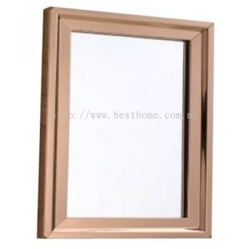 MIRROR WITH ROSE GOLD STAINLESS STEEL FRAME M4100 / TR-BA-MR-08615-GD