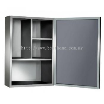TORA STAINLESS STEEL BLACK FINISHING MIRROR CABINET TR-BA-MC-08623-BK