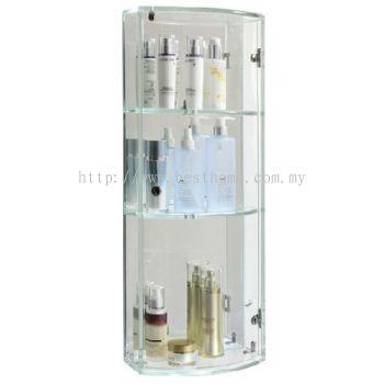 TRANSPARENCE WHITE TRIPLE GLASS CABINET FR-BA-MC-04799