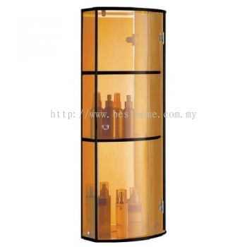 TRANSPARENCE BROWN TRIPLE GLASS CABINET FR-BA-MC-04800